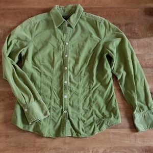 Ladies button down corduroy Eddie Bauer M